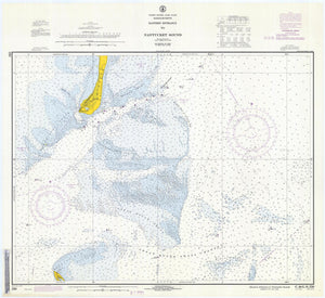 Nantucket Sound and Eastern Approaches Map - 1971