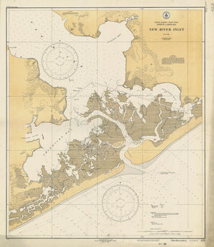 New River Inlet Map - 1932