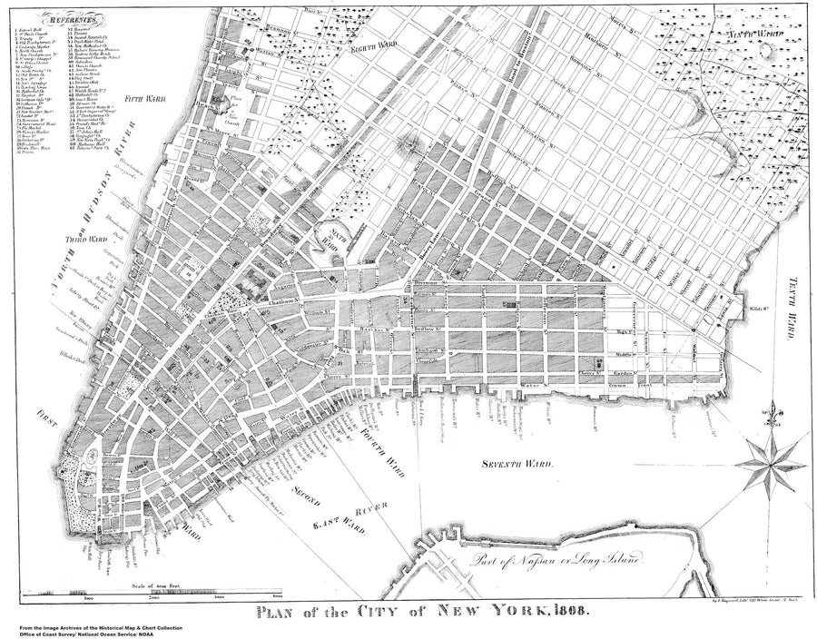 New York City Map - 1808