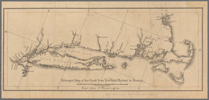 "New York Harbor to Boston Map (18"" x 40"") (24"" x 52"")"