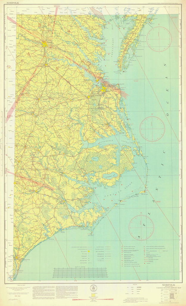 Norfolk Aeronautical Chart - 1935