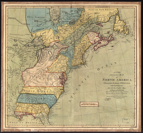 North America Map - 1771 (square)