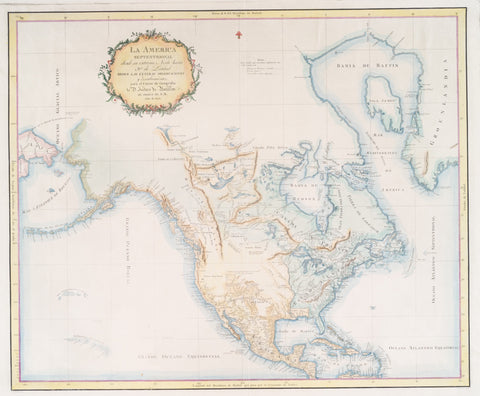 North America Map  - 1802