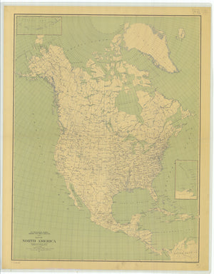 North America Map - 1912