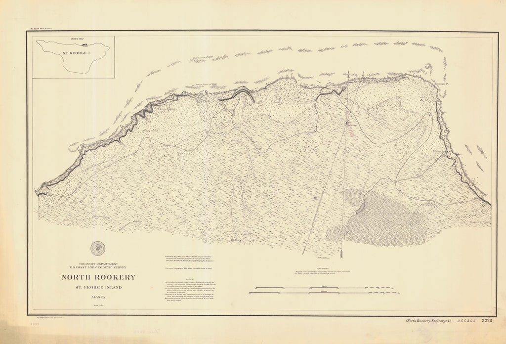 North Rookery - St. George Island Map - 1898