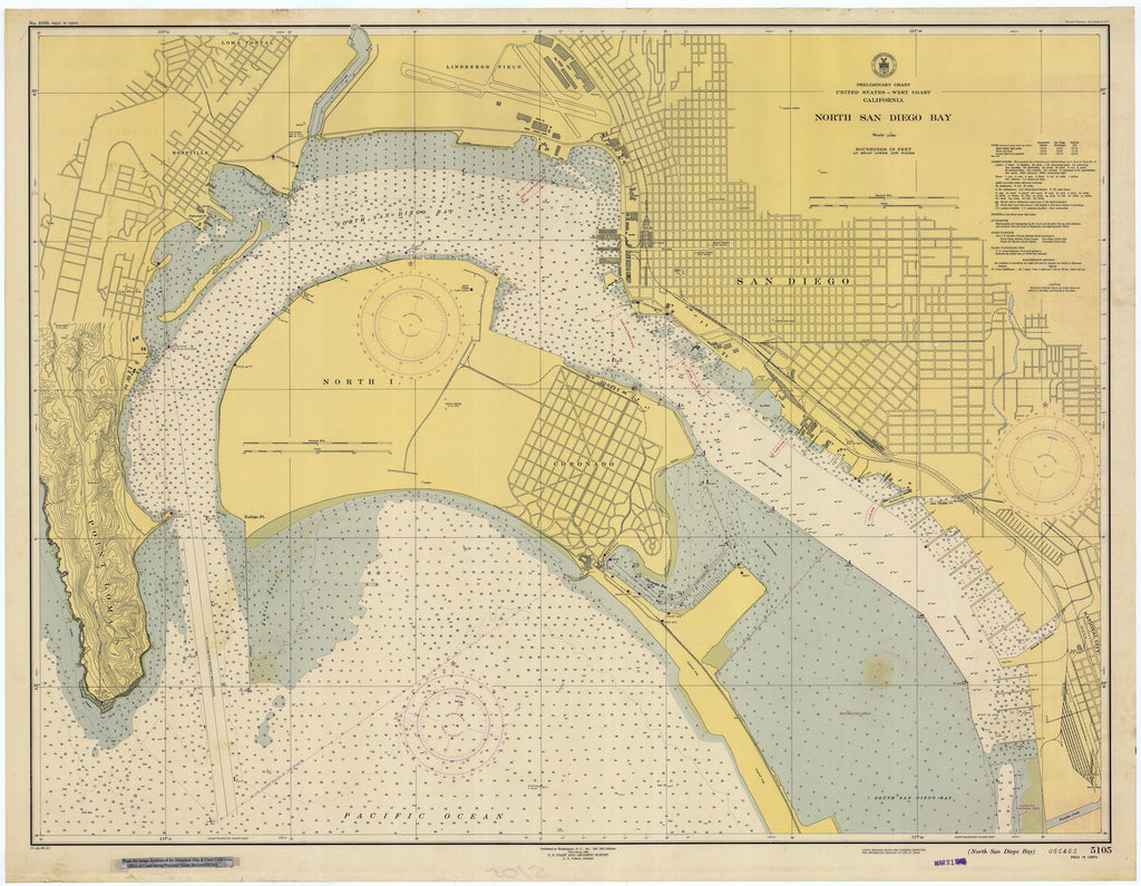 San Diego Bay - Northern Part - Map - 1948