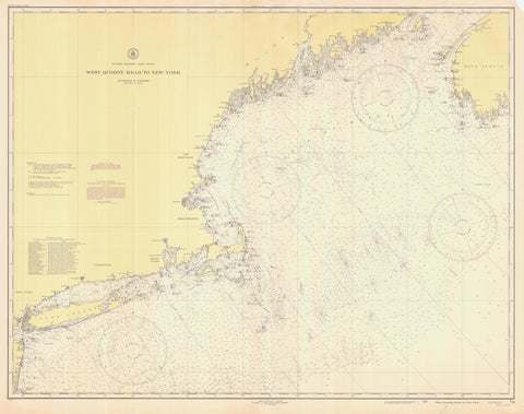 Atlantic Coast - West Quoddy Head to New York Map - 1945