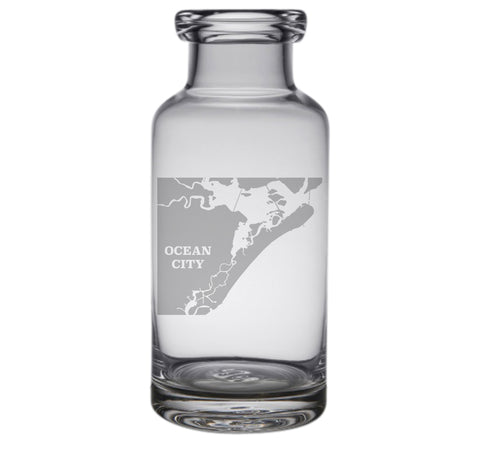 Ocean City Engraved Glass Carafe