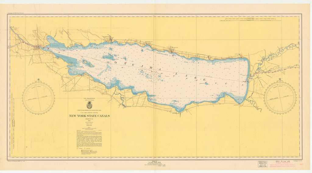 Oneida Lake Historical Map - 1950