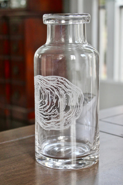 Oyster Engraved Glass Carafe