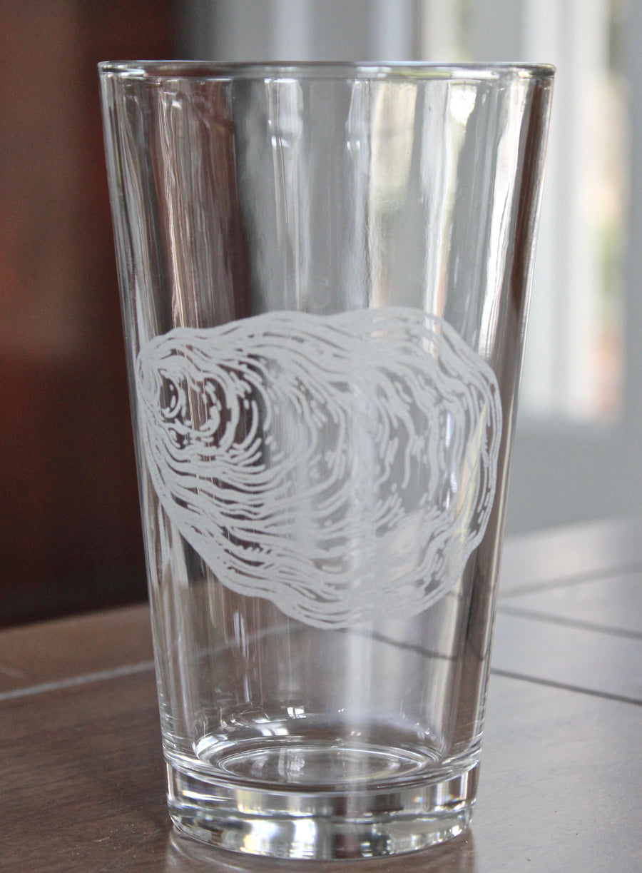 Oyster Engraved Glasses