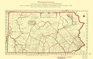 Pennsylvania Map - 1787