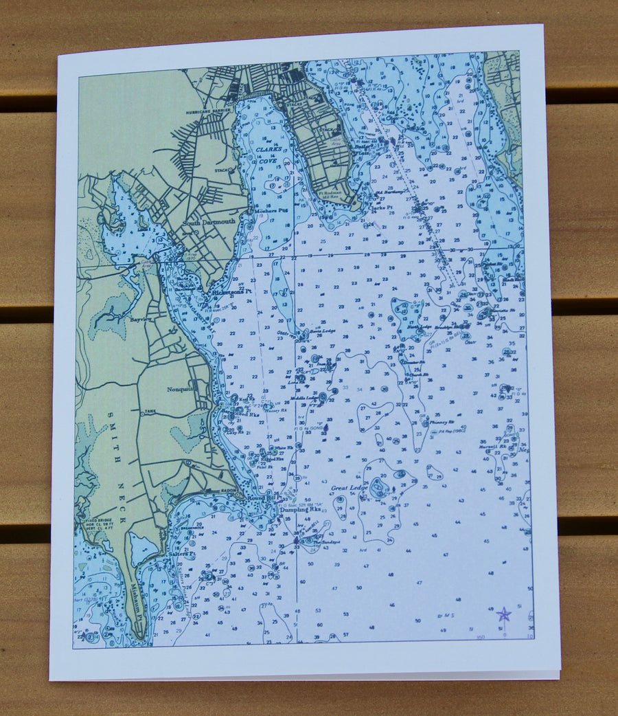 "Padanaram Map (1986) Notecards (4.25""x5.5"")"