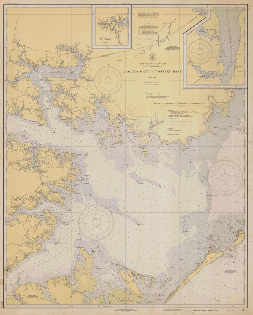 Pamlico Sound Map - 1938