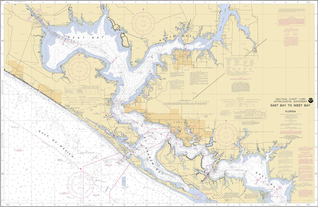 Panama City Florida - East Bay to West Bay Map - 1996