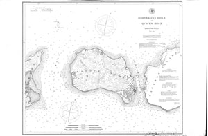 Pasque Island - Quick's Hole & Robinson's Hole Historical Map - 1897