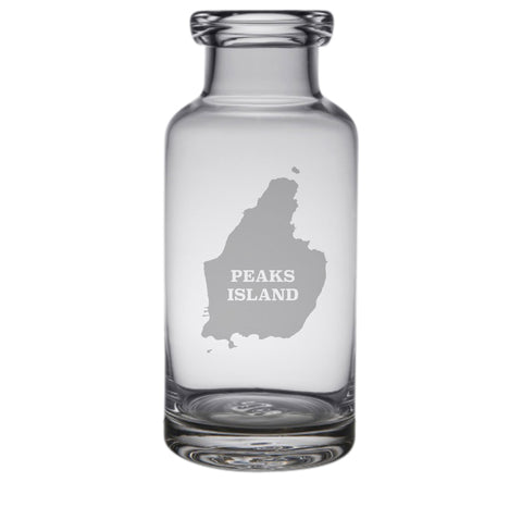Peaks Island Engraved Glass Carafe