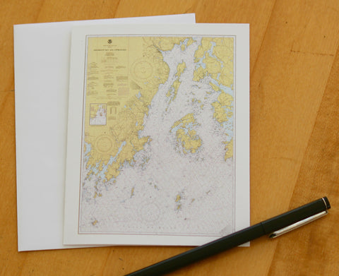 "Penobscot Bay Note Cards (1977) 4.25""x5.5"""