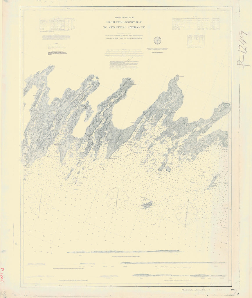 Penobscot Bay to Kennebec - Maine - Historical Map 1877