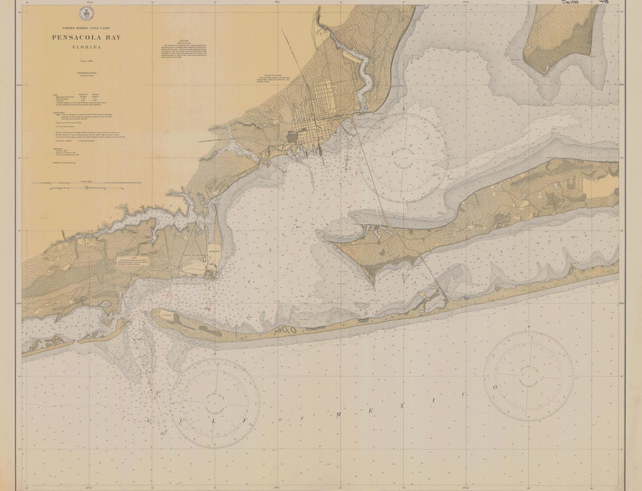 Pensacola Bay Map 1933