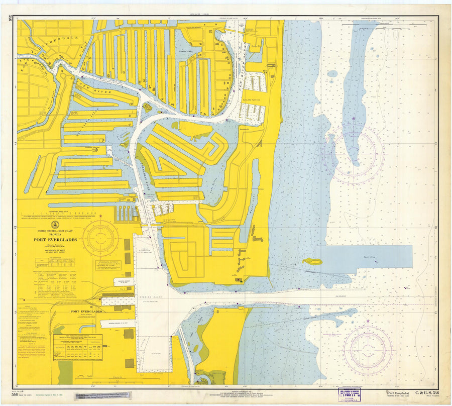 Port Everglades Map - 1966