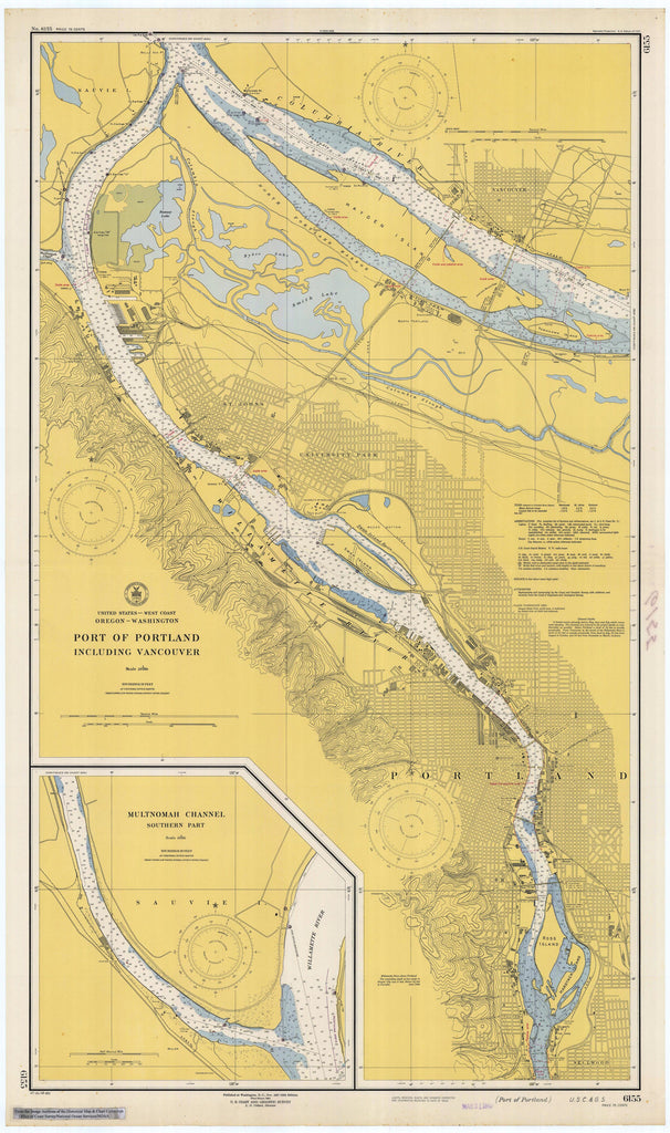 Port of Portland - Oregon - Historical Map 1948