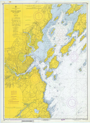 Portland Harbor Map - 1970