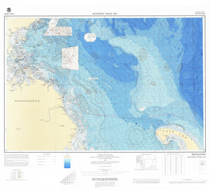 Provincetown Bathymetric Fishing Map F101 - 1986