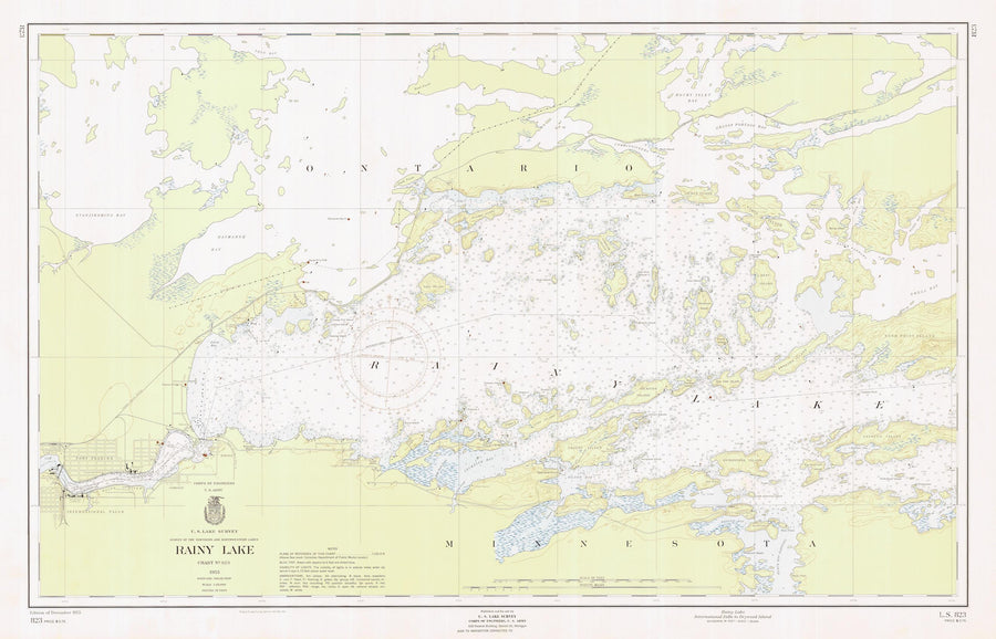 Rainy Lake Map - 1955