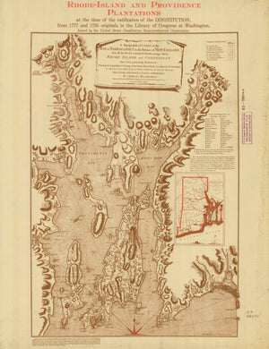 Rhode Island and Providence Plantations Map - 1795