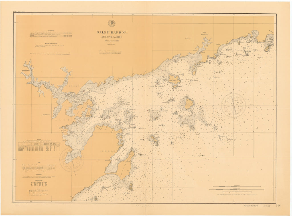 Salem Harbor Map - 1897