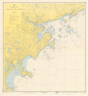 Salem & Lynn Harbors Map - 1955