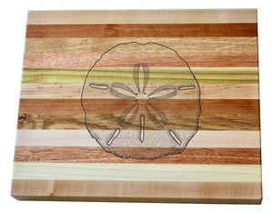 Sand Dollar Wooden Serving Board