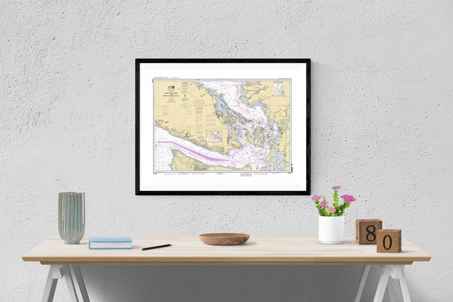 San Juan Islands - Georgia Strait and Strait of Juan de Fuca Map - 2012