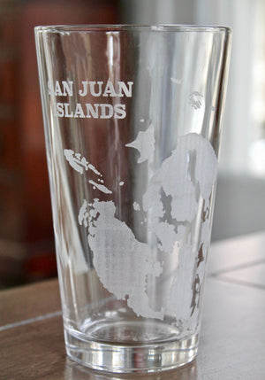 San Juan Islands Map Glasses