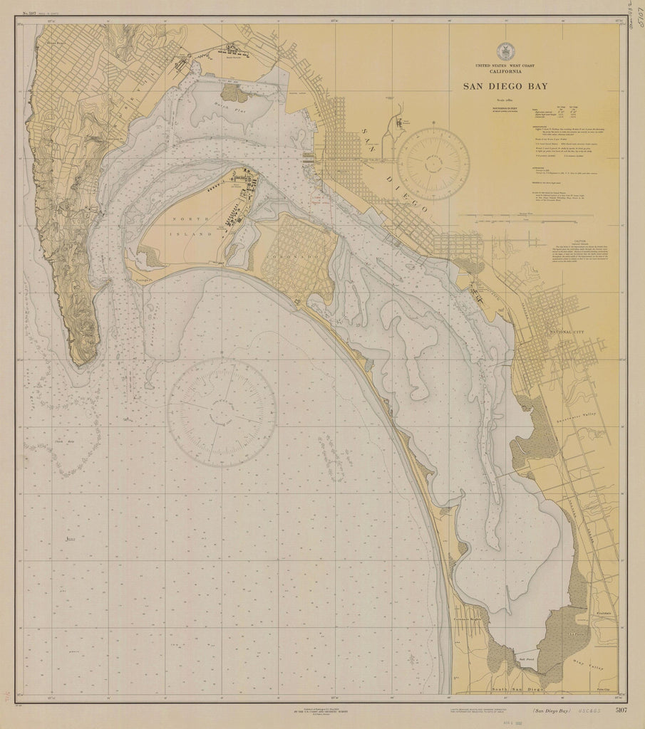 San Diego Bay Map - 1932