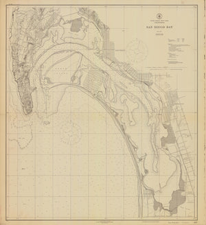 San Diego Bay - Historical Map - 1920