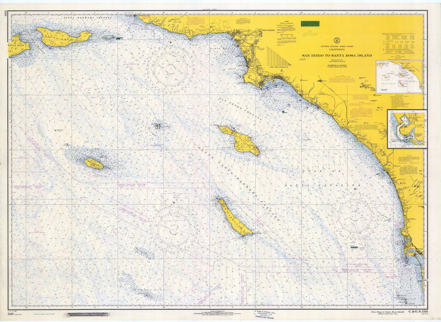 San Diego to Santa Rosa Island Map - 1966