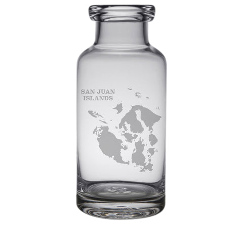 San Juan Islands Engraved Glass Carafe