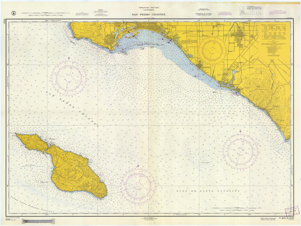 San Pedro Channel Map - 1958