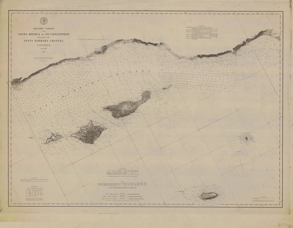 Santa Barbara Channel (Santa Monica to Pt. Conception) Historical Map - 1882