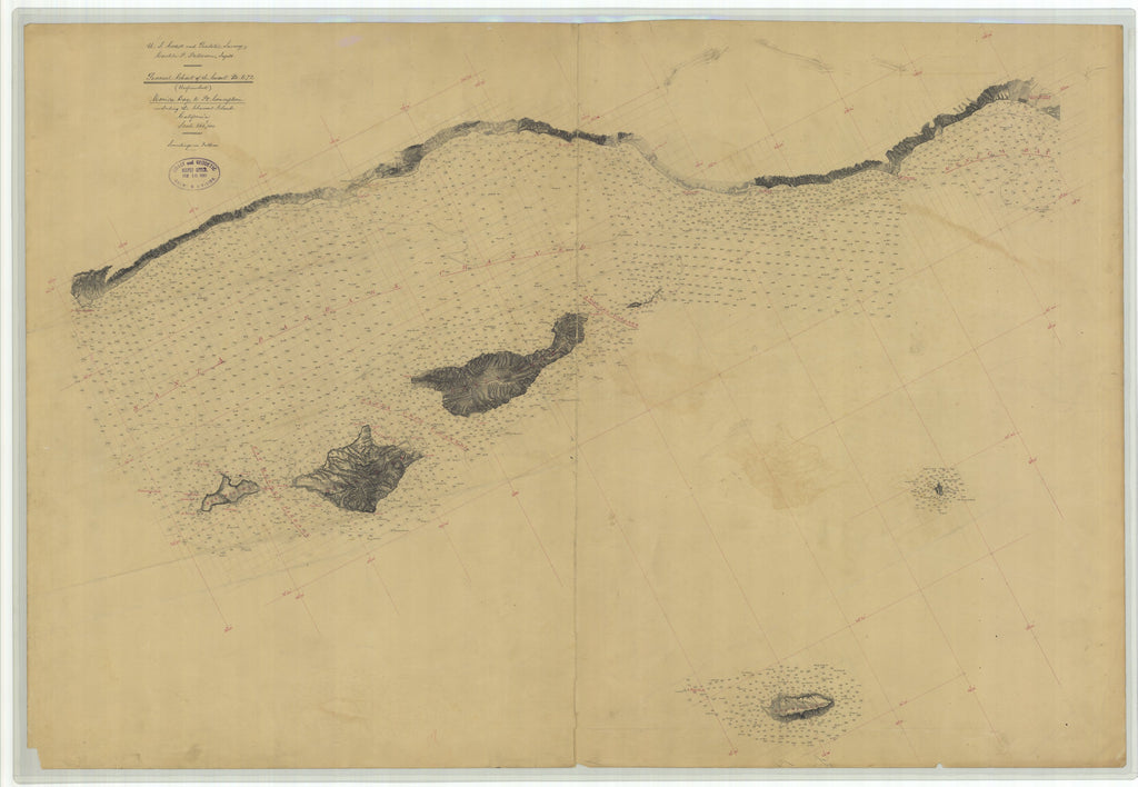 Santa Barbara Channel (Santa Monica to Pt. Conception) Historical Map - 1881