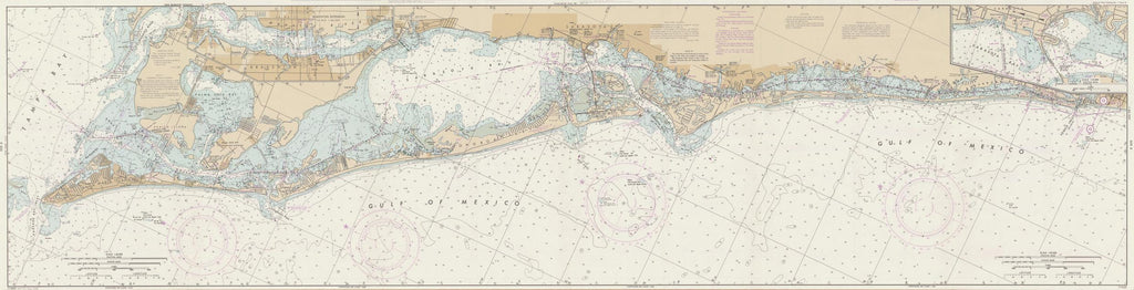 "Sarasota Bay Map - 1988 (18"" x 72"")"