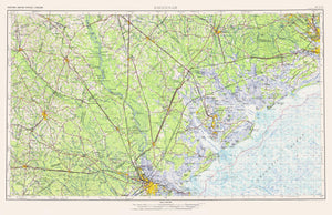 Savannah Topographical Map - 1978