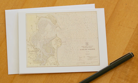 "Scituate Harbor Note Cards (1925) 4.25""x5.5"""