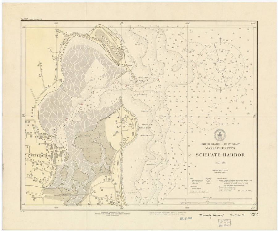 Scituate Harbor Map 1925