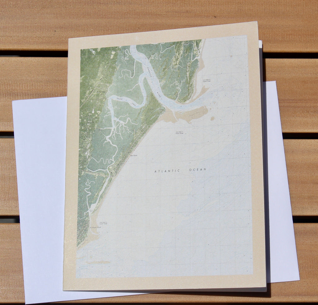"Sea Island Map Notecards (1979) - 4.25""x5.5"""