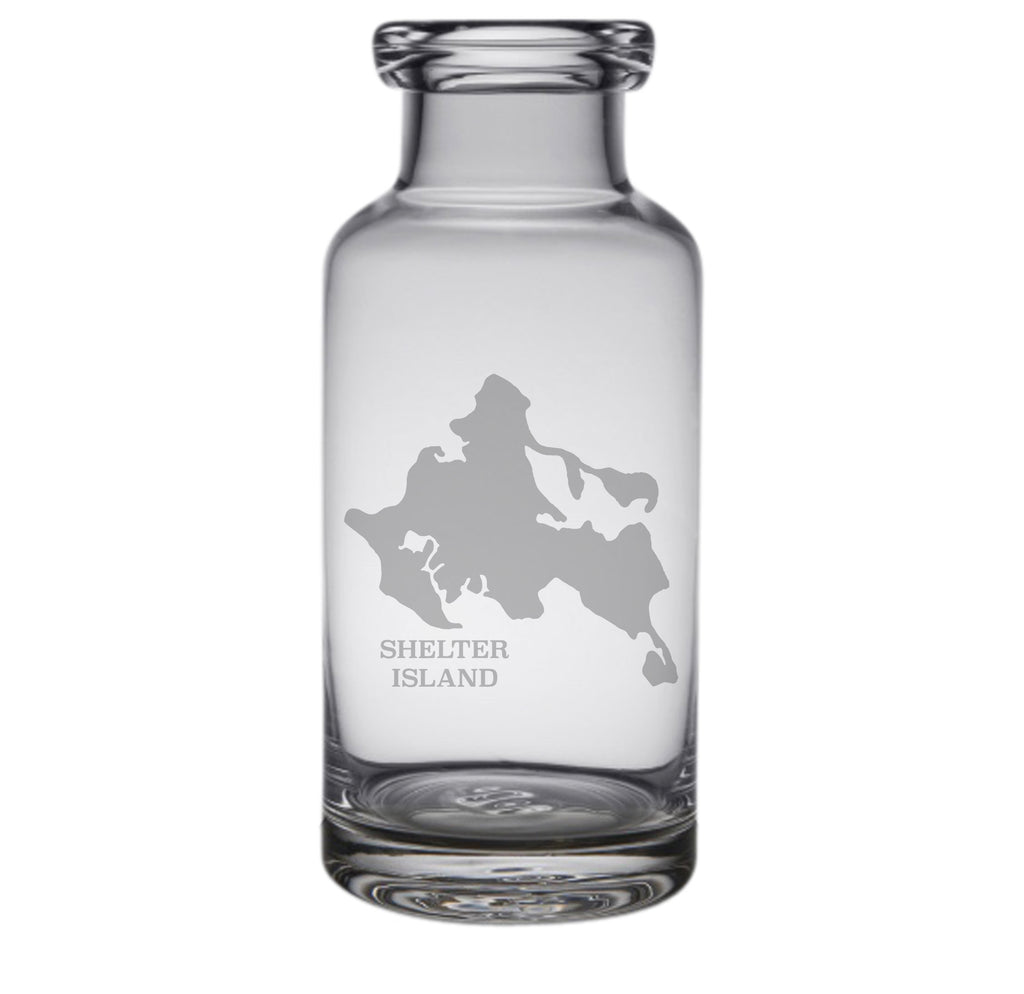 Shelter Island Engraved Glass Carafe