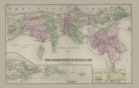 Southold and Shelter Island Map