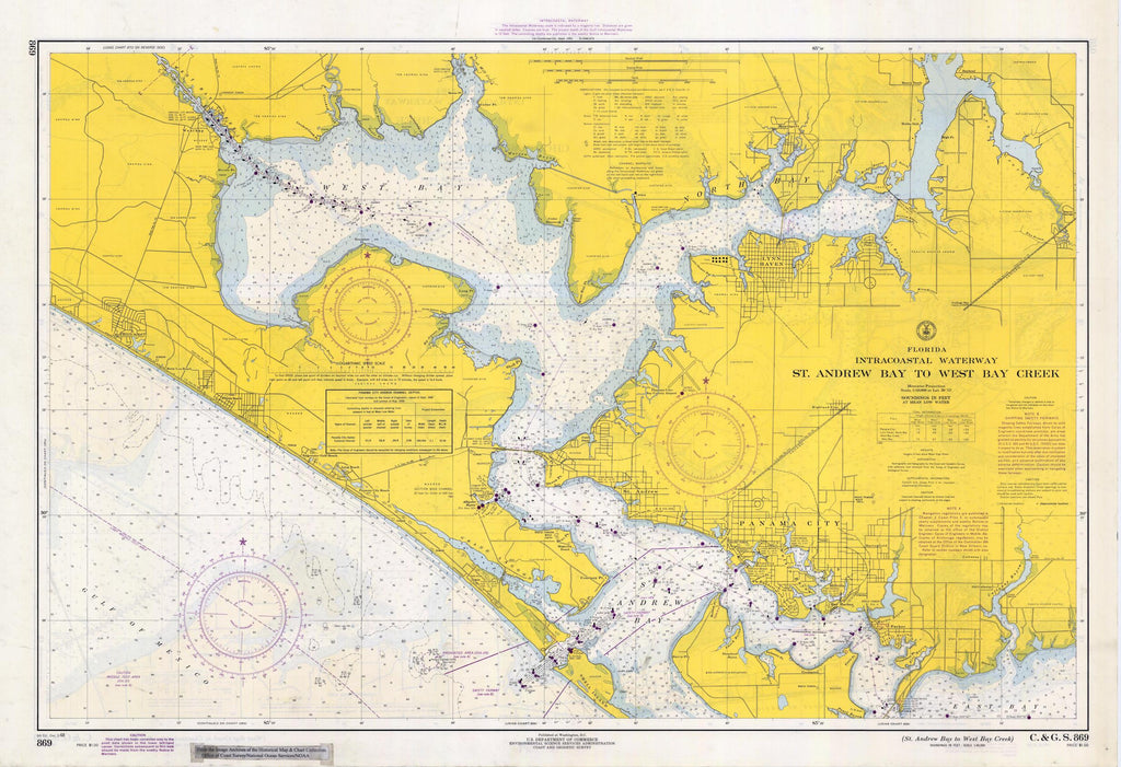 St. Andrew Bay to West Bay Creek Map - 1968